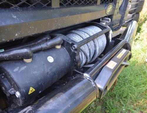Land Rover Seilwindenmontage
